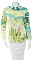 Roberto Cavalli Abstract Print Long Sleeve Blouse