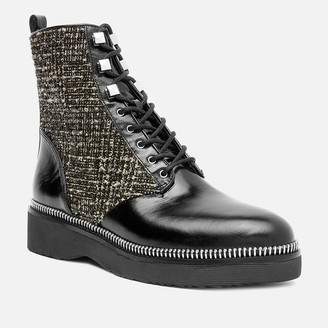 MICHAEL Michael Kors Women's Haskell Lace Up Boots