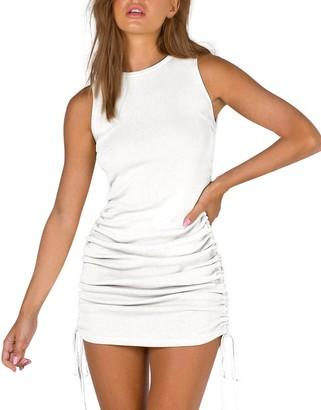 Steve Madden Sleeveless Mini Dress White
