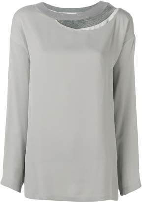 Fabiana Filippi layered neck blouse