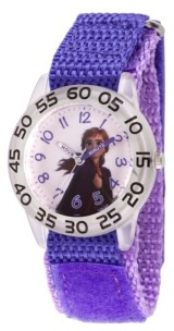 EWatchFactory Disney Frozen 2 Anna Girls' Clear Plastic Time Teacher Watch 32mm