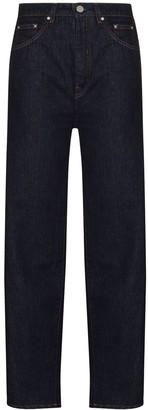 Totême High-Waist Straight-Leg Jeans