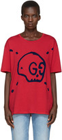 Gucci - T-shirt rouge Gucci Ghost Sku