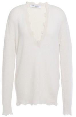 IRO Belen Distressed Brushed Wool-blend Sweater