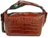 Ganni Croc-Embossed Leather Shoulder Bag
