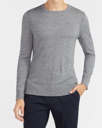 Express Merino Wool-Blend Crew Neck Sweater