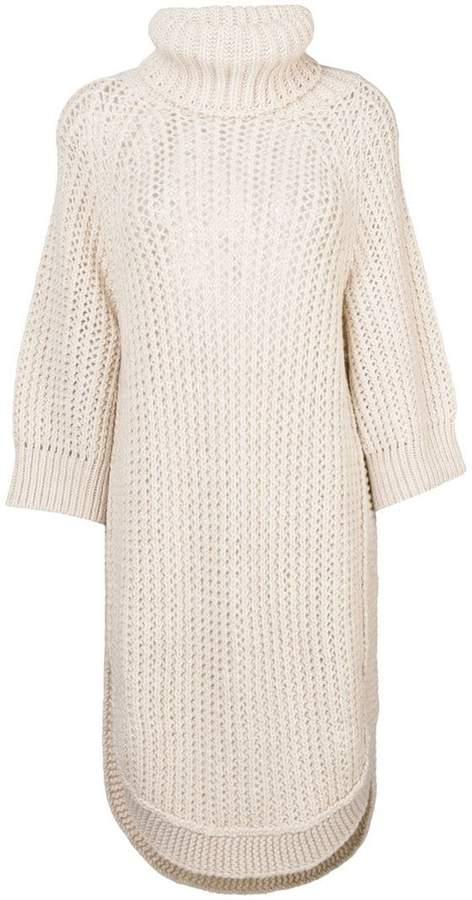Chloé open knit rollneck tunic