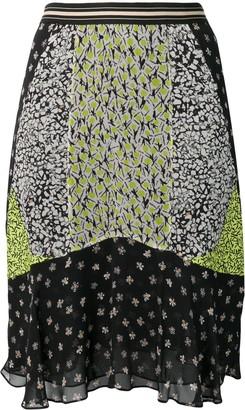 Dorothee Schumacher Panelled Floral Print Skirt