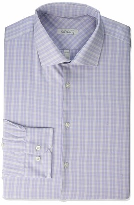 Perry Ellis Men's Slim Fit Spread Collar Dress Shirt