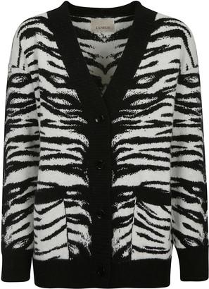 Laneus Leopard Print Cardigan