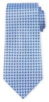 Armani Collezioni Geometric Box-Print Silk Tie, Lavender