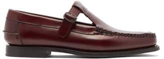 Hereu - Alber Buckled Leather Loafers - Mens - Burgundy