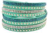Riah Fashion Green Wrap Around Bracelet
