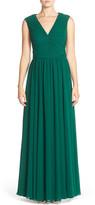 Vera Wang Ruched Chiffon Gown