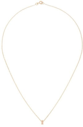 Natalie Marie 9kt Yellow Gold Marquise Rutilated Quartz Pendant Necklace