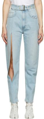 Maison Margiela Blue Destroyed Jeans