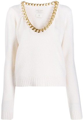 Bottega Veneta Chain Neck Jumper