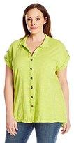 Neon Buddha Women's Plus-Size Maggie Swing Shirt