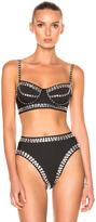 Norma Kamali Underwire Bikini Top W/ Rhinestones