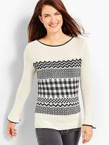 Talbots Fair Isle Lurex® Sweater
