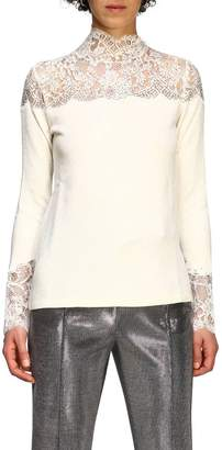 Ermanno Scervino Sweater Sweater With Long Sleeves And Lace Inserts