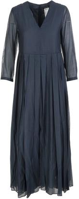 Max Mara Ocean Blue Corolla Dress