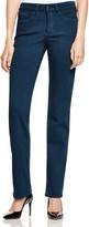 NYDJ Marilyn Straight Leg Jeans in Teal Shadow