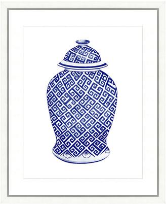 Vintage Print Gallery Fine Chinoiserie Porcelain Jar Framed Print