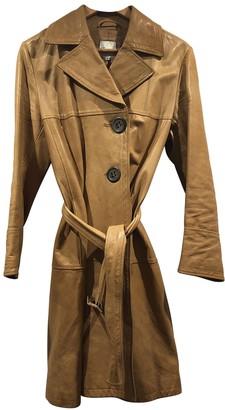 Façonnable Beige Leather Coat for Women