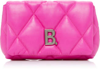 Balenciaga Embellished Quilted Leather Clutch