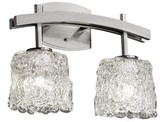 Caigan Archway 2 Light Oval Bath Vanity Light Brayden Studio Finish: Polished Chrome, Shade Pattern: Lace, Shade Shape: Oval