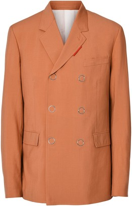 Burberry Slim Fit Press-stud Wool Tailored Jacket