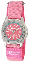 Ravel Girl's Surfer 5ATM Quartz Watch with Baby Pink Dial Analogue Display and Pink Nylon Strap R5-13.15L