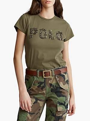 Ralph Lauren Polo Polo Embellished Logo T-Shirt