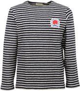 Kitsune Stripe Logo Plaque Sweatshirt