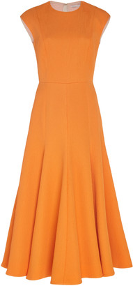 Emilia Wickstead Pleated Crepe Dress