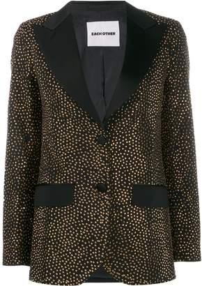 Each X Other crystal embellished blazer