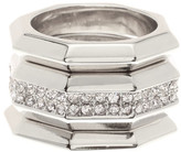 Louise et Cie Crystal Ring Set - Set of 3 - Size 7