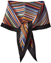 Echo Women's Striped Silk Diamond Scarf