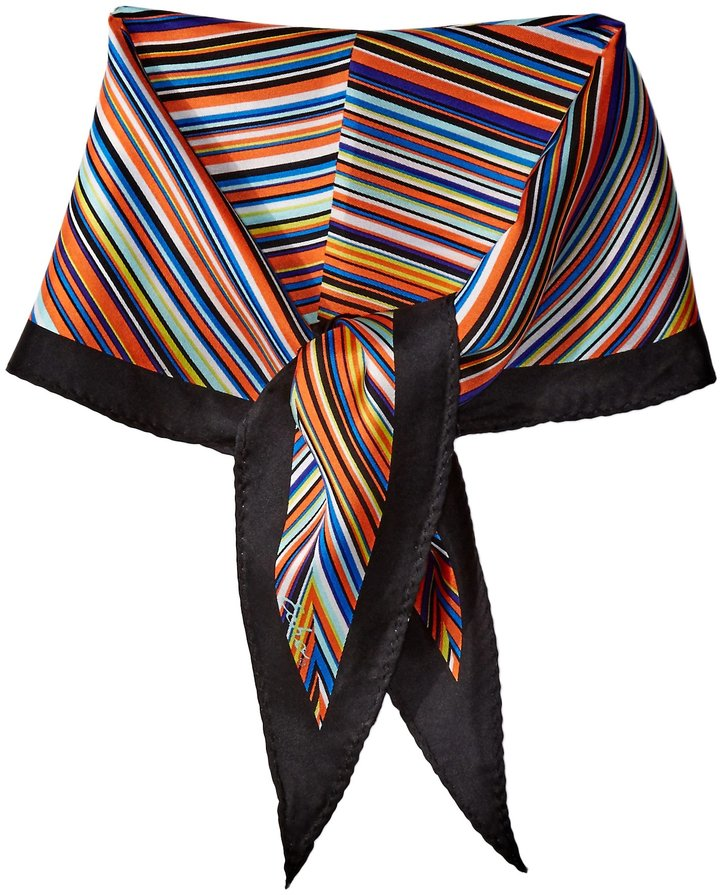 Echo Women's Striped Silk Diamond Scarf