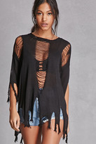 Forever 21 FOREVER 21+ Cutout-Back Fringe Sweater