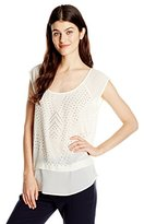 DKNY Women's Studded Top
