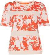 HUGO BOSS Tabloom short sleeve floral stripe tee