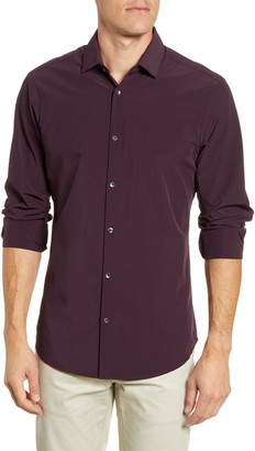 Mizzen+Main Montag Regular Fit Button-Up Performance Shirt