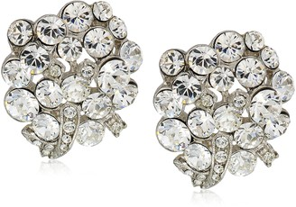 1928 Jewelry Silver-Tone Crystal With Swarovski Elements Cluster Earrings
