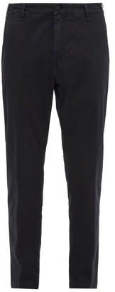 White Sand - Stretch-cotton Slim-leg Chino Trousers - Mens - Black