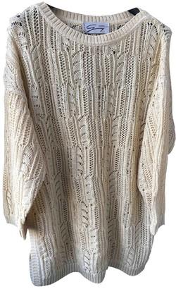 Genny Beige Cotton Knitwear for Women