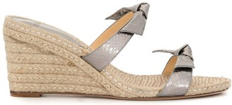 Alexandre Birman Clarita braided 90mm wedge espadrilles