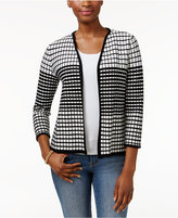 Charter Club Petite Open-Front Textured Cardigan, Only at Macy's