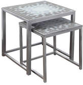 Monarch Two-Piece Tile-Top Nesting Table Set